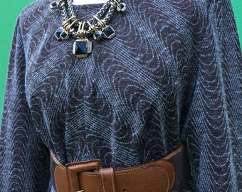 Made in Italy | Vintage Dress | 60s Vintage | Wool Dress | Sartorial dress | 60s Dress | MIDI Dress | Handmade dress