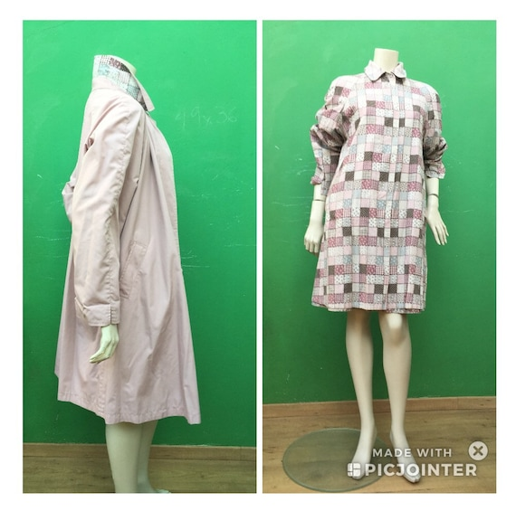 """DOUBLE FACE TRENCH """"90s double-face Vintage Trench"""