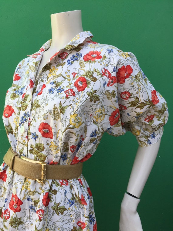 Cotton FLORAL DRESS Tailoring Tailoring cotton dr… - image 4