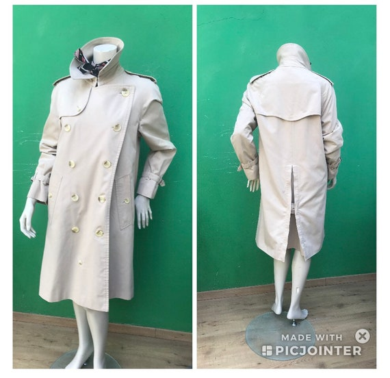 BURBERRY VINTAGE TRENCH COAT Double breasted tren… - image 9