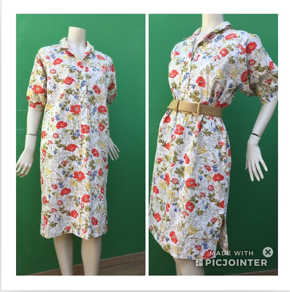 Cotton FLORAL DRESS Tailoring Tailoring cotton dre