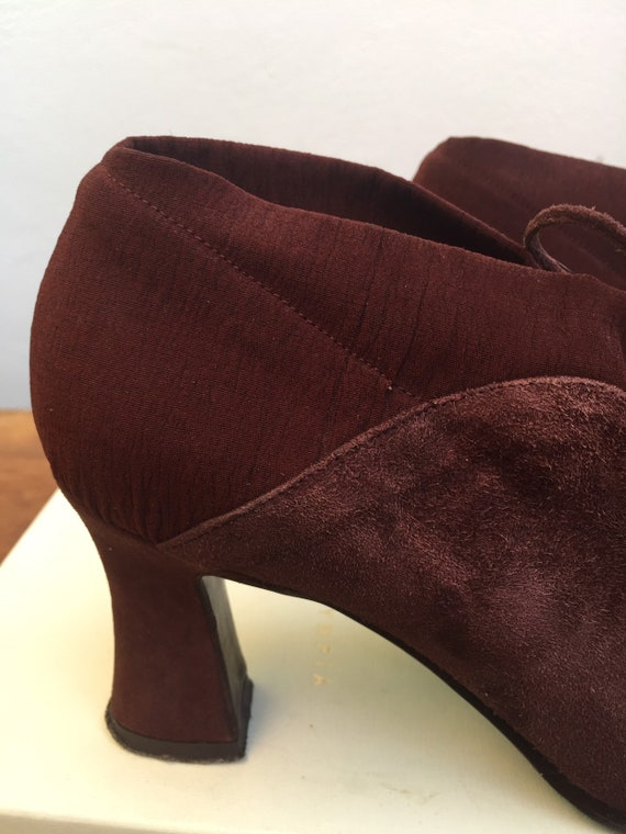 ANKLE BOOTS SUEDE Vintage burgundy ankle boots Fas