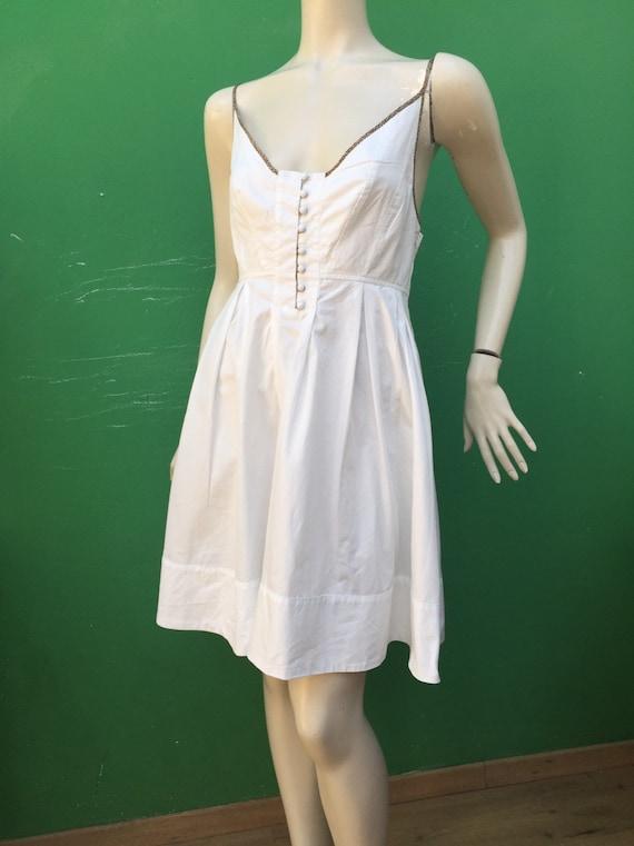 BORBONESE WHITE COTTON Dress Fashion cotton Borbo… - image 10