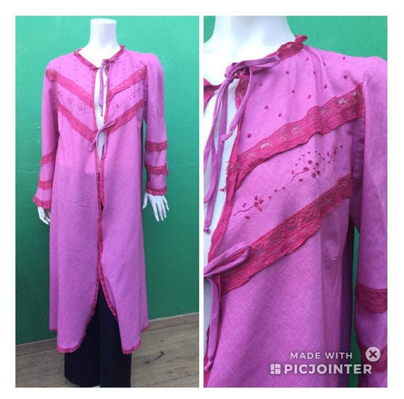 COTTON DRESSING GOWN Handmade Boho gown dressing C