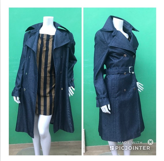 BLUE JEANS TRENCH Made in Italy |90s Trench | Tren