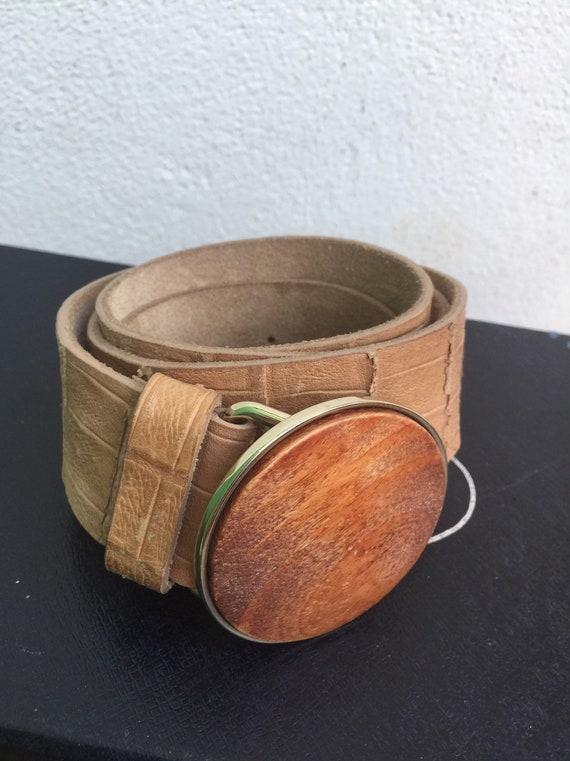 FONNESBERG LEATHER BELT Vintage belt Fashion leath