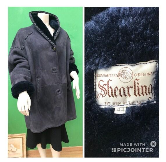 Shearling Blue Vintage SHEARLING COAT Vintage shea