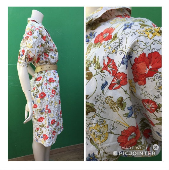 Cotton FLORAL DRESS Tailoring Tailoring cotton dr… - image 3