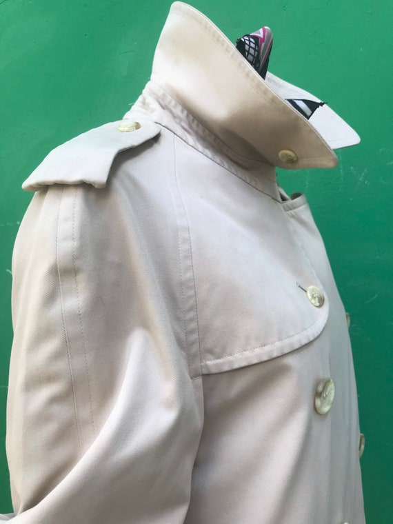 BURBERRY VINTAGE TRENCH COAT Double breasted tren… - image 4