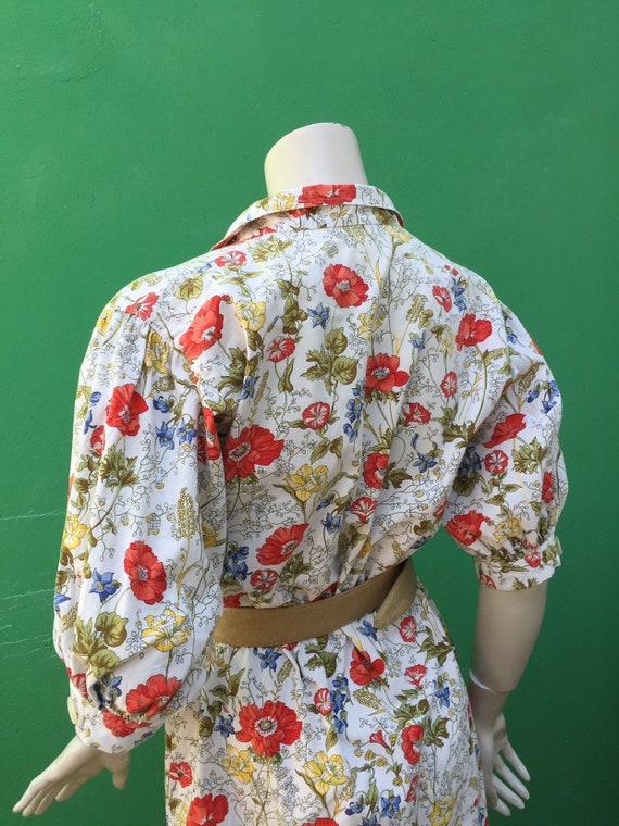 Cotton FLORAL DRESS Tailoring Tailoring cotton dr… - image 5