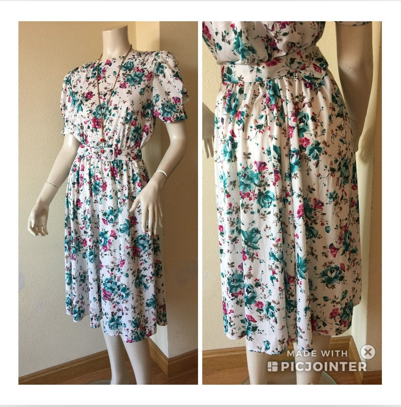 75f8f39f3e0 FLORAL DRESS 80s Vintage Dress Vintage Dress original