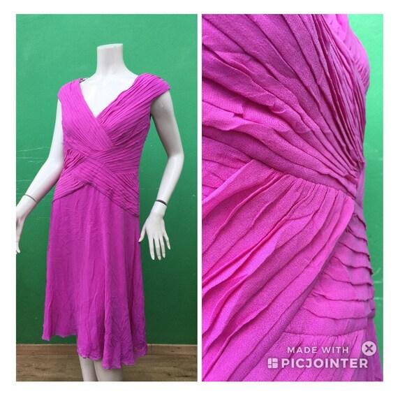 LILLA SILK DRESS 80s Lille Silk dress Tadashi vint