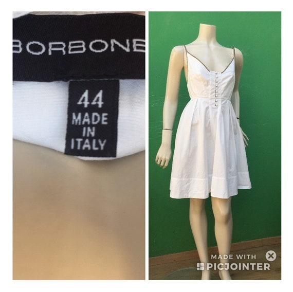 BORBONESE WHITE COTTON Dress Fashion cotton Borbo… - image 4