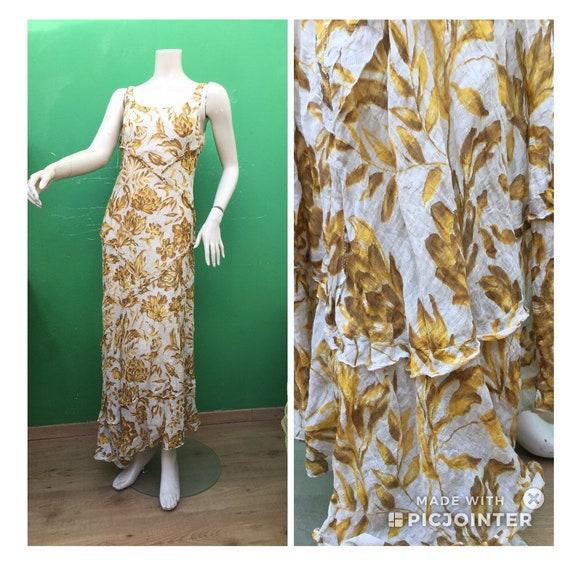 Mariella Burani COTTON LONG FLORAL Dress Mariella
