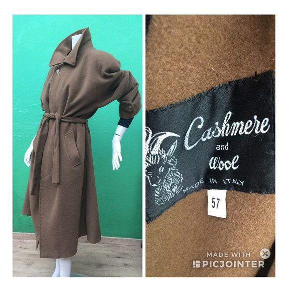 CACHEMIRE VINTAGE Camel COAT Unisex Camel coat Lon
