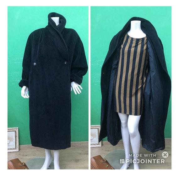 MAX MARA CASCHEMIRE Black Coat Oversize Max Mara C