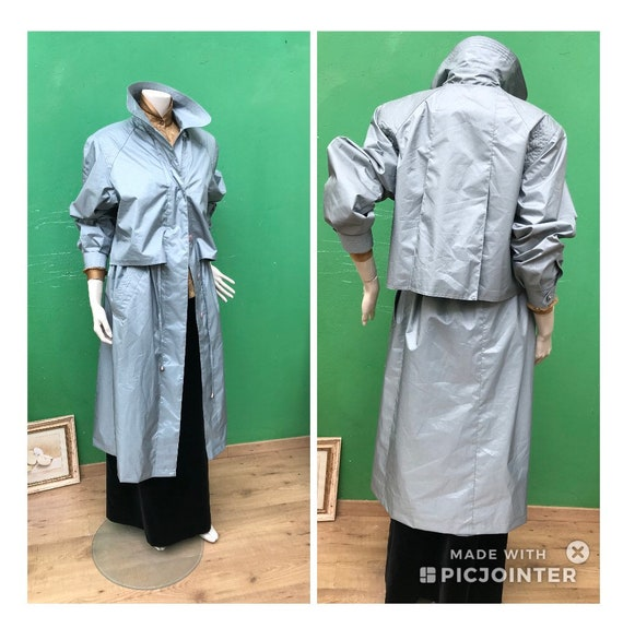 FASHION TECNICAL TRENCH | Light Blue Vintage Trenc
