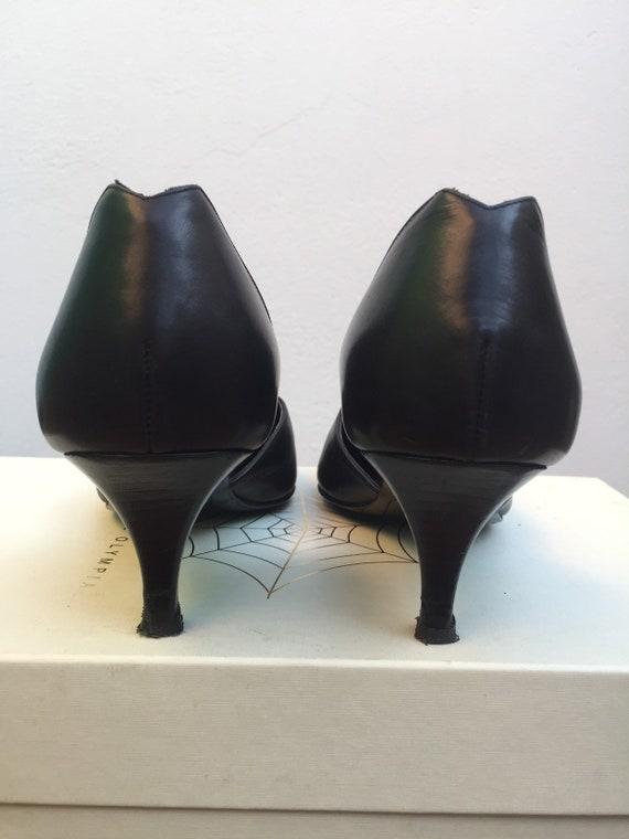 LOEWE LEATHER SHOES Vintage leather shoes Black l… - image 6