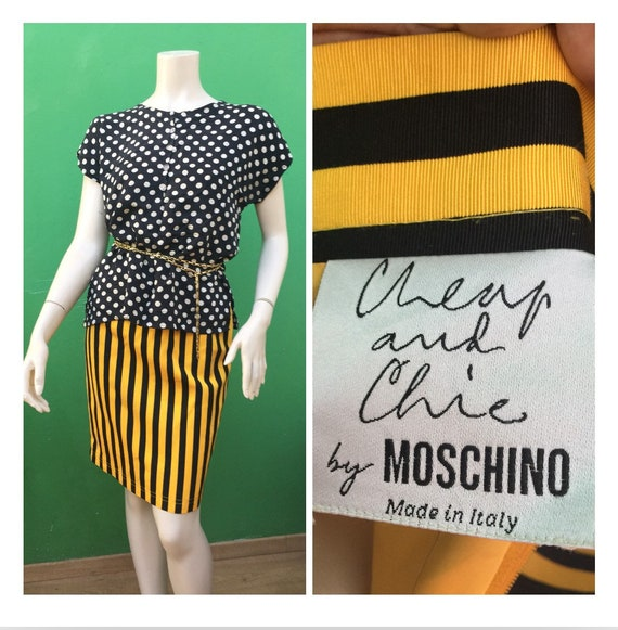 Moschino STRIPED SKIRT MOSCHINO Striped Skirt  80s