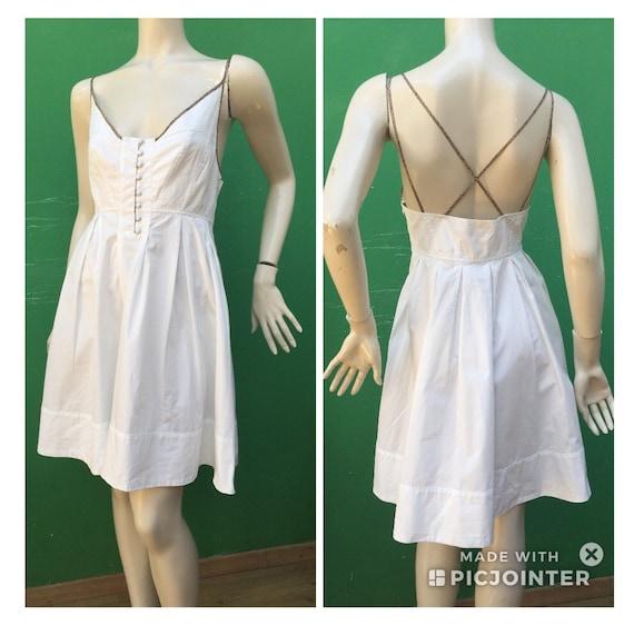 BORBONESE WHITE COTTON Dress Fashion cotton Borbo… - image 3