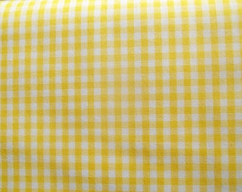 Yellow Gingham Check Fabric