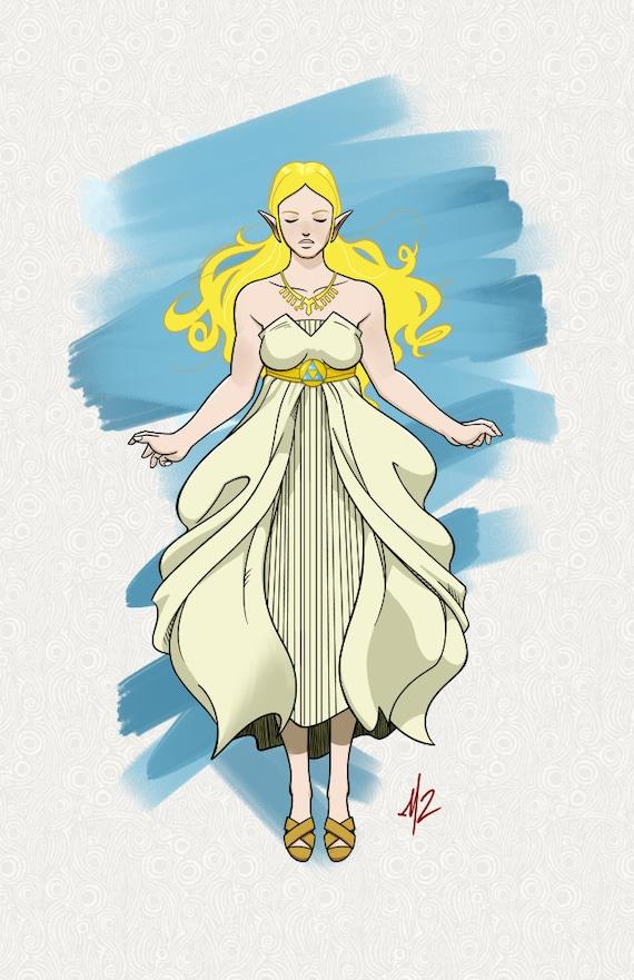Princess Zelda Botw 11x17 Art Print
