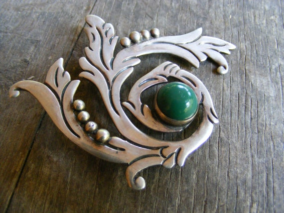 Maricela Spiral Pin – Vintage Mexican