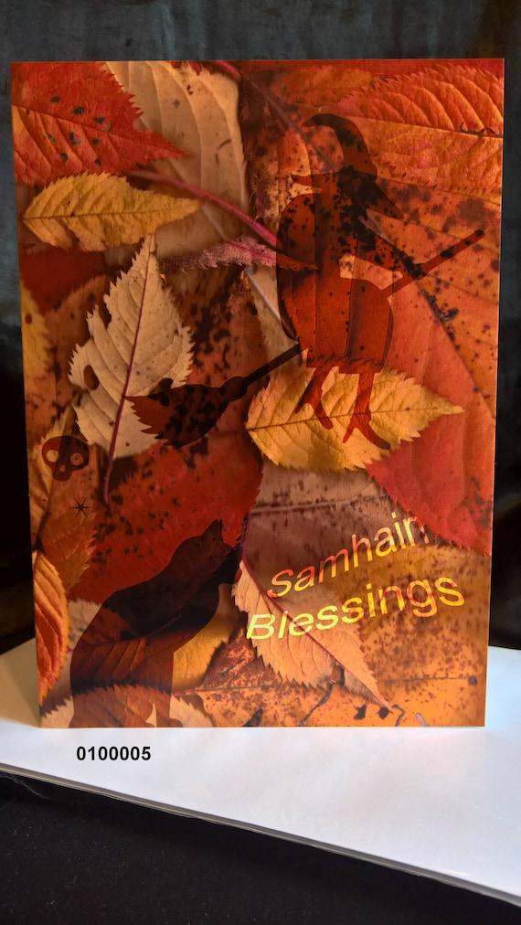 Samhain blessings pagan greeting card etsy image 0 m4hsunfo