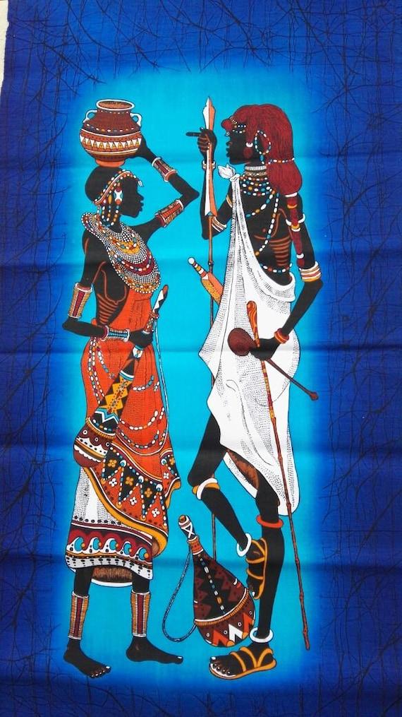 African sexy batik wall hanging