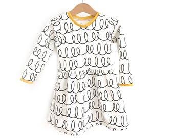 Dress baby girl SWIRLS!  -Sweatshirt