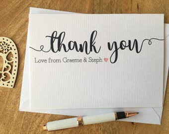 personalised thank you card wedding party engagement gift - Engagement Thank You Cards