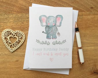 Personalised Birthday Card Parent Dad Daddy Son Daughter From The Bump Pregnant