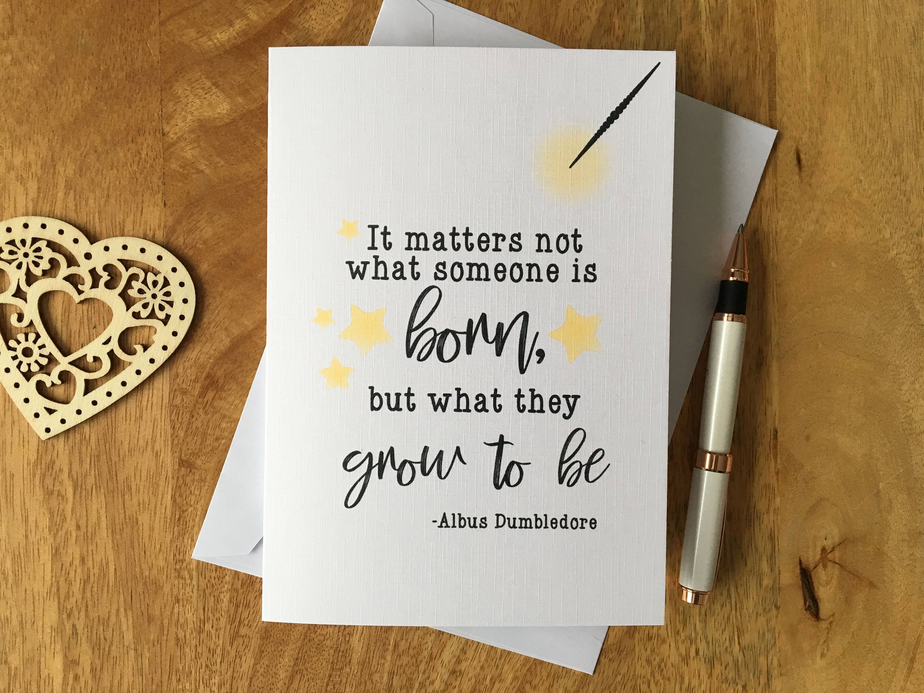 Personalised Harry Potter Birthday Card Albus Dumbledore Quote