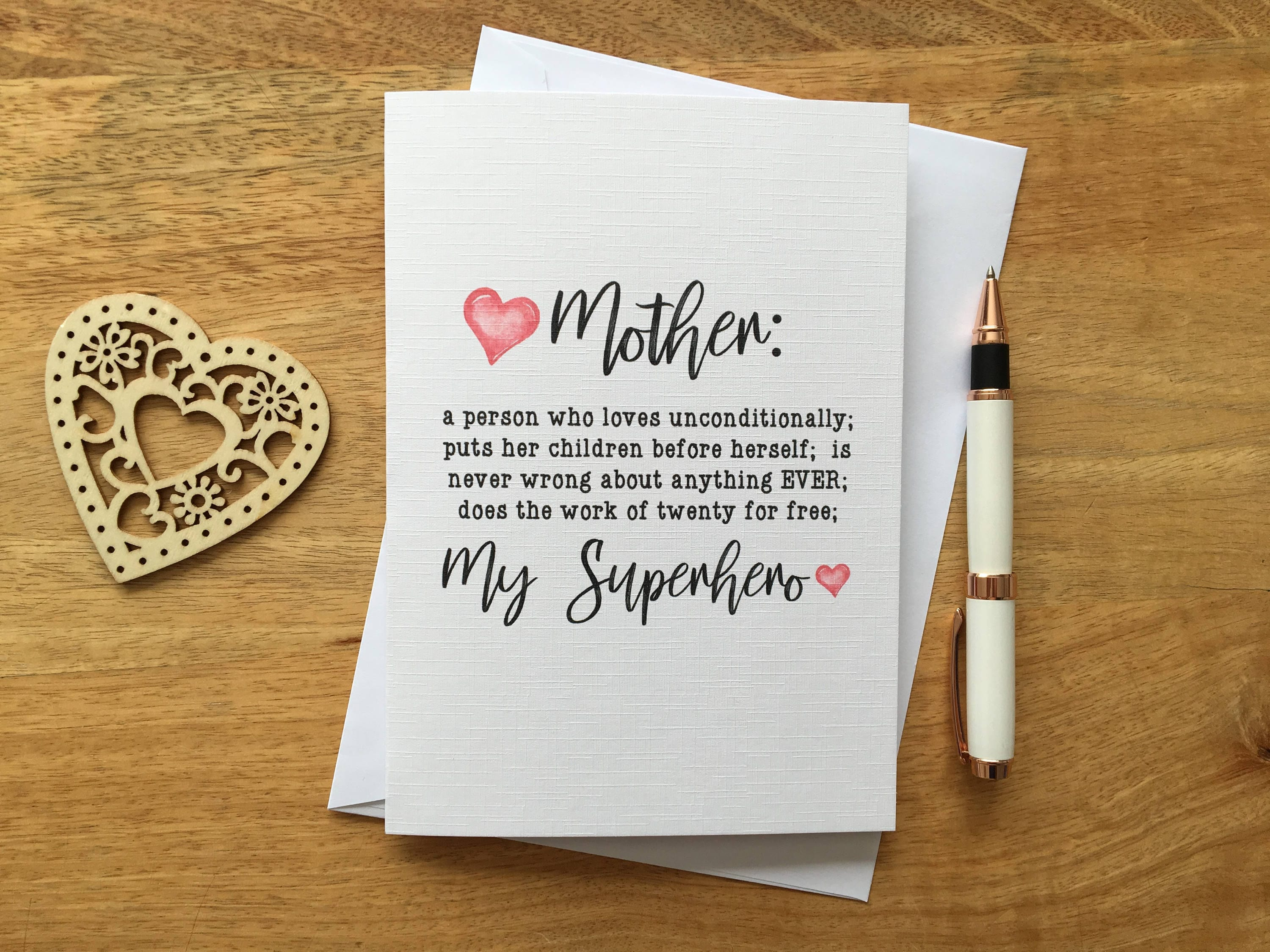 Personalised Birthday Card Definition Mum Mother Funny Son