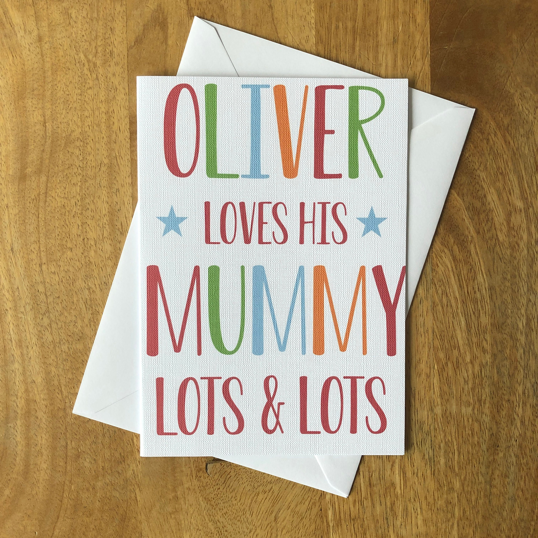 Fête Mères Mum Anniversaire fabriqué à la main personnalisée carte photo Utilisation Propre Photo