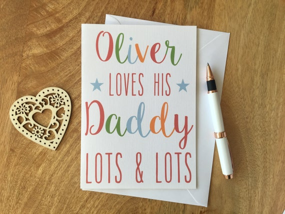 Personalised Birthday Card Dad Daddy Father Son