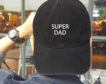 Super Dad Hat Embroidery Baseball Cap Tumblr Pinterest Unisex Size 2e136e5a456f