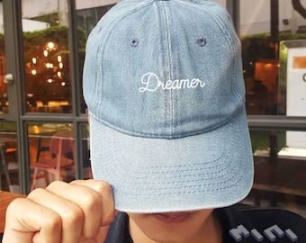 b3642251 Dreamer Dad Hat Embroidery Baseball Cap Tumblr Pinterest Unisex Size