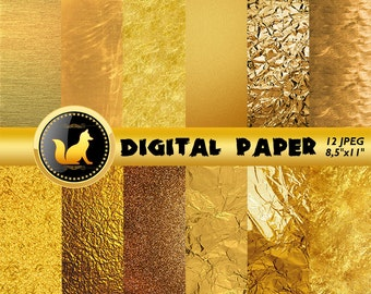 Crumpled Gold Scrapbook Paper,Gold Background,Gold Digital Paper,Gold Backdrop,digital paper,Blur Background,scrapbooking paper,crumped art