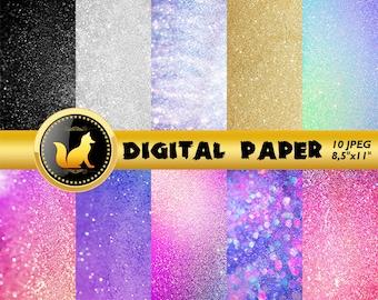 Glitter Digital Paper,Rainbow Glitter Background,Glitter Scrapbook Paper,Glitter Backdrop,digital paper,Glitter Background,scrapbook Glitter