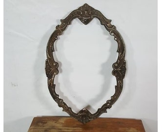 Antique mirror frame Wall Old Metal Mirror Frame Retro Antique Vintage Rustic Style Indiamart Vintage Mirror Frame Etsy