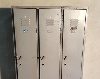 Metal Locker Loft Storage Vintage Cabinet With Doors Steel Lockable Workshop