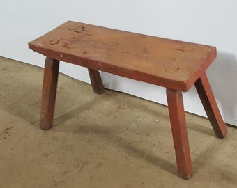 Old Wooden Bench Wood Step Industrial Stool Retro Loft Rustic Primitives  Cheap