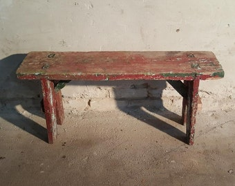 Charmant Old Wooden Bench Wood Step Industrial Stool Retro Loft Rustic Primitives  Cheap