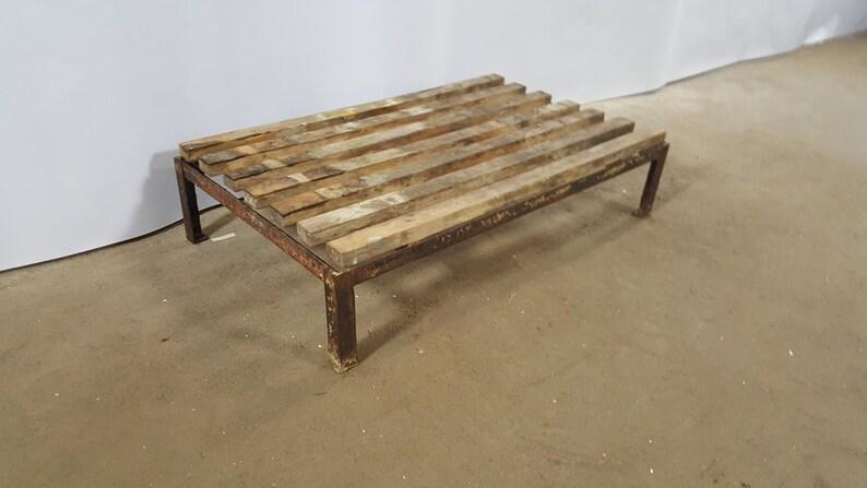 Retro pallet rectangular wooden metal vintage industrial old furniture home