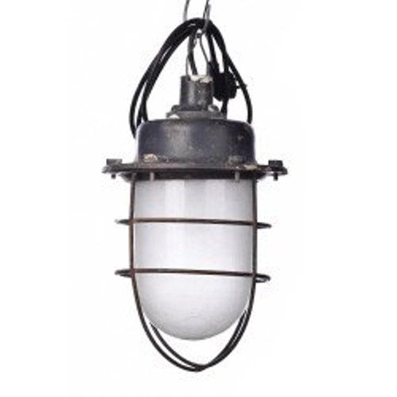 Hanging pendant industrial loft Lighting retro bunkerlamp vintage lamp with grid