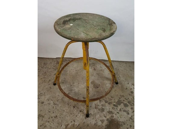 Marvelous Industrial Wooden Seat Loft Stool Retro Rustic Cafe Bar Kitchen Metal Frame Inzonedesignstudio Interior Chair Design Inzonedesignstudiocom