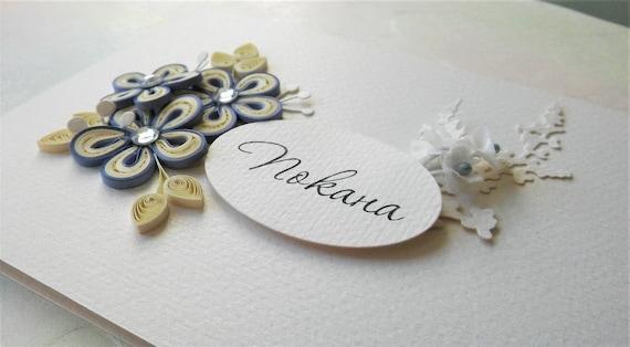 Quilled Wedding Invitation Handmade Wedding Card Wedding Day Card Wedding Invitation Card Floral Invitation Card Custom Quilling Card