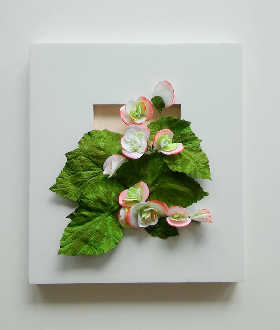 Paper Flower Bouquet Begonia Wall Art Floral Art Home Etsy