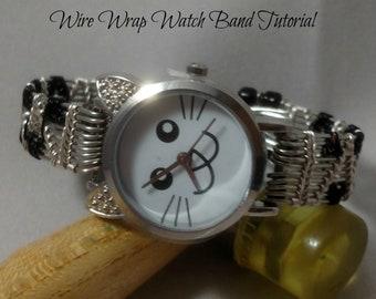 Wire Wrap Watch Band PDF Tutorial